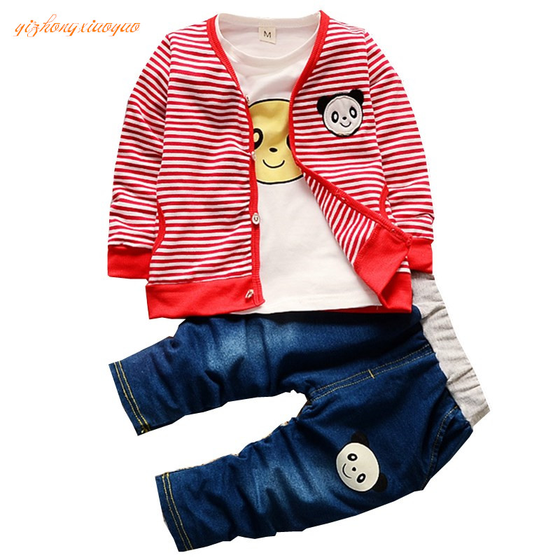 Kids Clothes Boys Girls 2016 Baby Boys Autumn Coats And Jackets Pants Set Fashion Children Clothing Sports Suit Boy 3pc/set  недорого