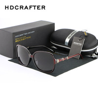 HDCRAFTER Luxury Brand Women Polarized Sunglasses Classic Glasses Anteojos De Sol Mujer Sunglasses For Female Oculos