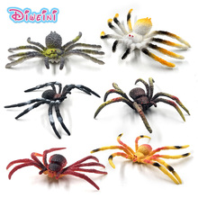 6Pcs/Set  Simulation spider insect plastic animal model doll pvc action figure DIY Decoration hot set toys for children gift plastic simulation insect model decoration figurine toys gift stag spider ladybird beetle butterfly figure toys for kids