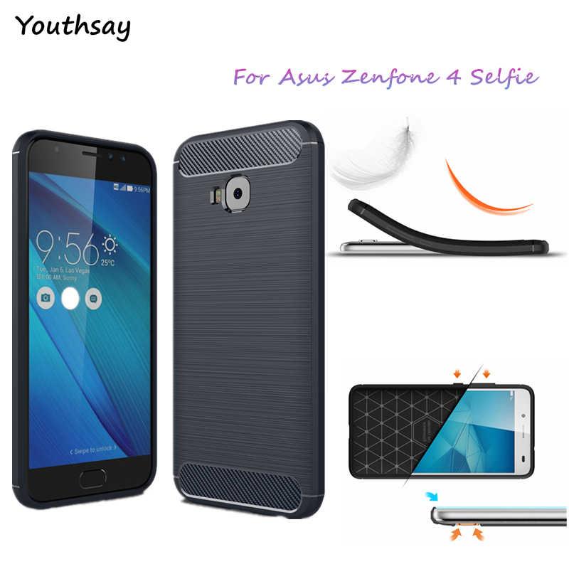 """Чехол для Asus Zenfone 4 Selfie Pro, чехол из углеродного волокна для телефона Asus Zenfone 4 Selfie Pro ZD552KL, чехол 5,5 """"Coque Youthsay"""