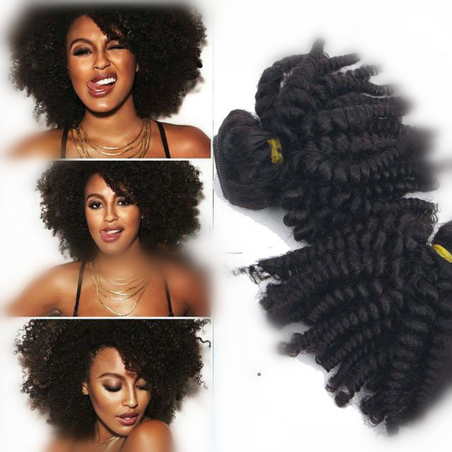 New Texture Peruvian Curly Human Hair Weave For Black Women 3pcs Lot Natural Color Free
