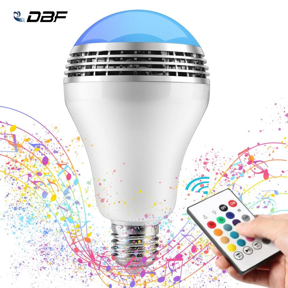 Dimmable E27 10W RGB LED ampoule Bluetooth éclairage lampe couleur réglable haut-parleur musique lumières ampoule avec RF 24key télécommande