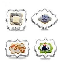 4 шт./набор, Европейская свадебная рамка, металлические формочки для печенья Koekjes Rvs Gereedschap Keuken Bakvorm