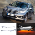 LED Head Light Eyebrows Trim Lamp Bezel Cover Headlight DRL For Honda CR-V 2012 2013 2014 With Turn Signal
