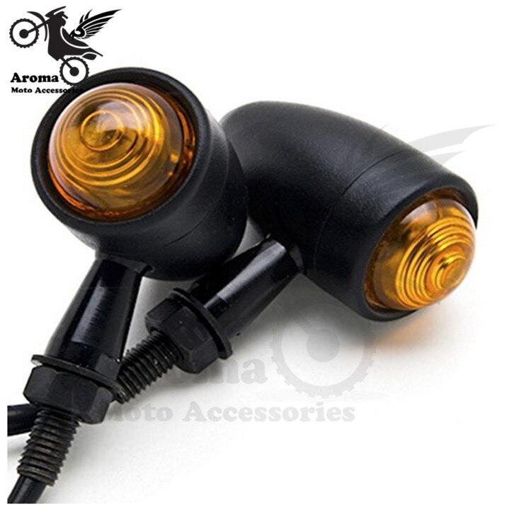 black yellow lighting unviersal lamp flashers 12V Waterproof 10mm indicator for Harley light moto LED motorcycle turn signal