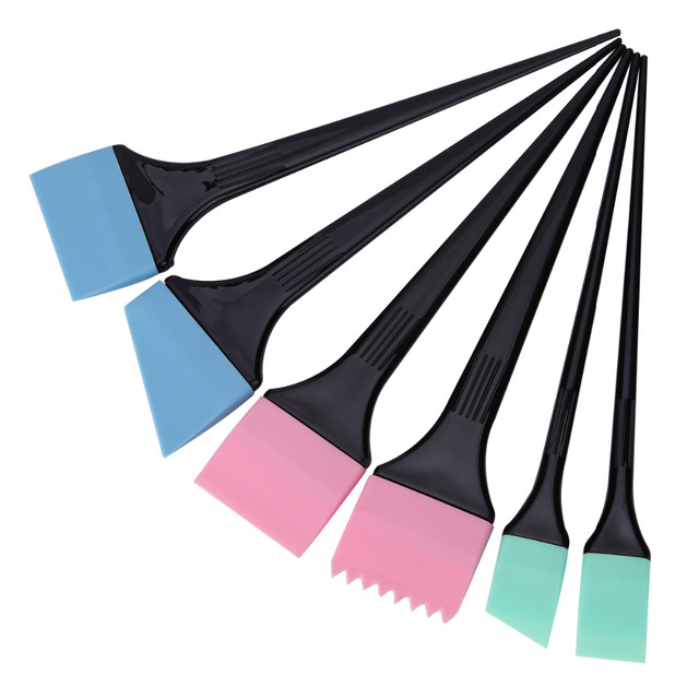 6 teile/satz Haar Färben Pinsel Spachtel Färbung Kamm Kit Set Haar ...