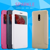 Nillkin For Nokia 6 Case Sparkle Flip PU Leather Mobile Phone Case With Good Quality
