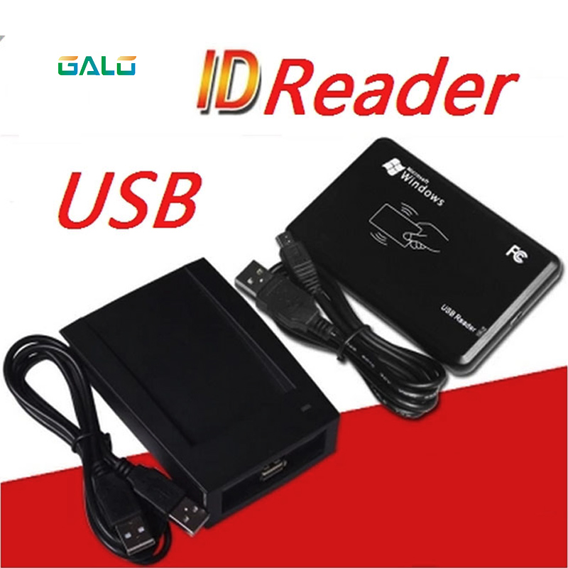 (5 pcslot) 125Khz RFID Reader EM4100 USB Proximity Sensor Smart Card Reader for Access Control