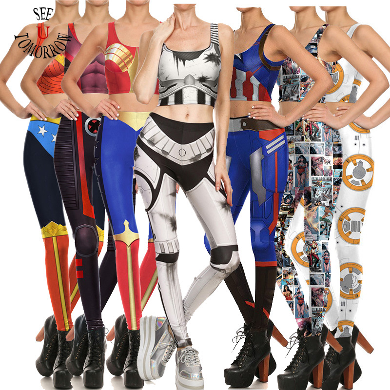 Drop shiping Sexy Women Vest and Pants Outfits Anime Game Star Wars Superhero Cosplay Costumes Halloween,Stage Clothes Sets New