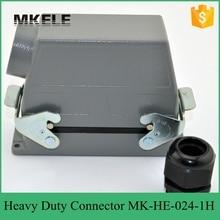 24 pines 16A aeroespacial con conectores resistentes al agua retardante de llama para medir la cubierta alta MK-HE-024-1H