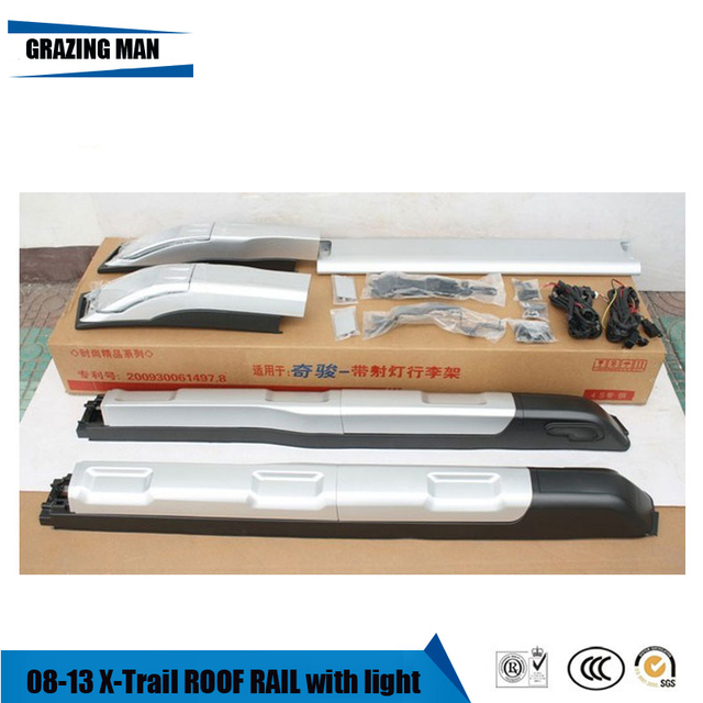 High quality aluminium alloy for baggage luggage rail roof rack for 08~13 X-Trail 1