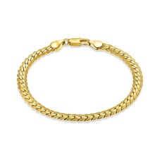 Liffly Fashion 18K Bracelet for Women Birthday Gift Anniversary Commemorate Party Unisex Fine Jewelry Accessories