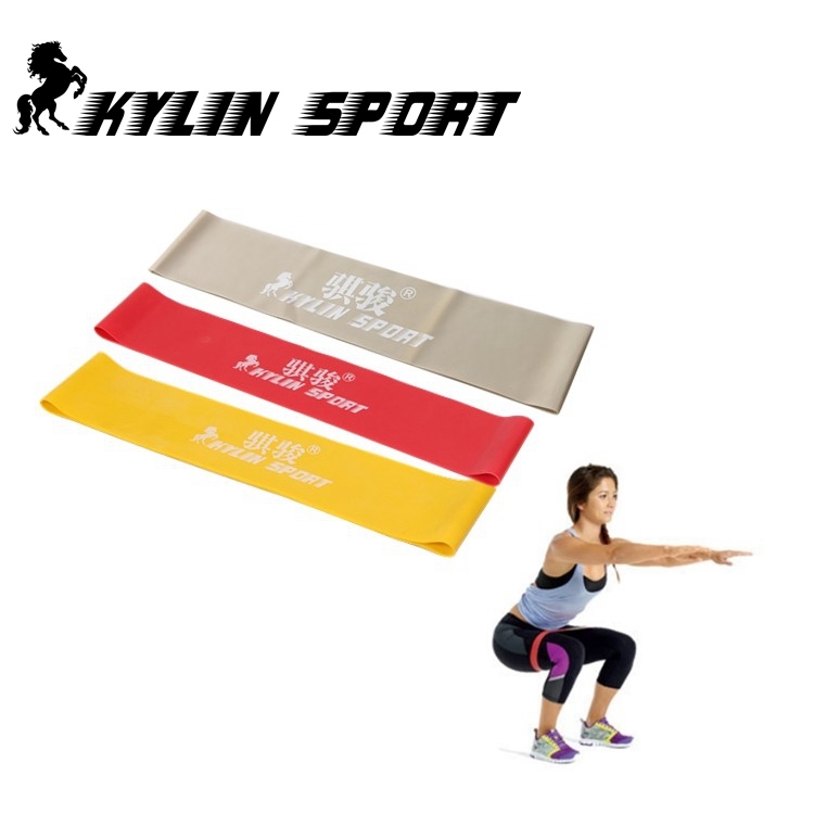 red yellow and gray combinationlatex latex resistance workout excercise pilates yoga bands loop wrist ankle elastic belt