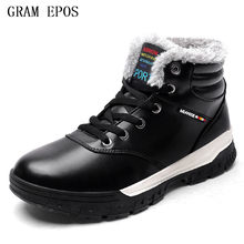 GRAM EPO Brand Newest Keep Warm Men Winter Boots High Quality pu Leather  Wear Resisting Casual 4e73867c8074