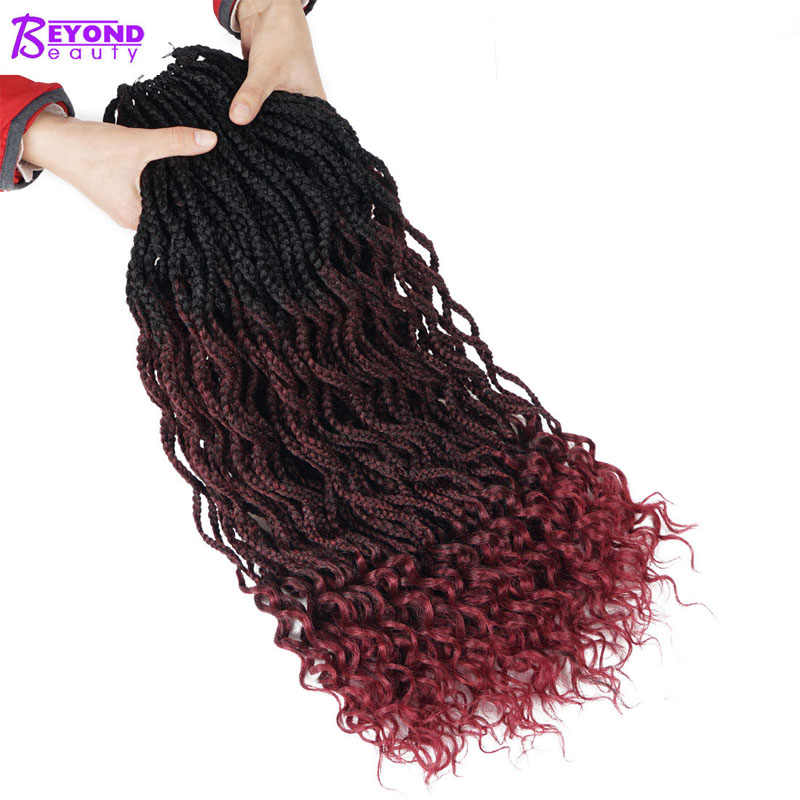 Beyond Beauty Crotchet Hair Extensions Ombre Medium Box Braids Crochet Braids Fiber Synthetic Braiding Hair Bulk