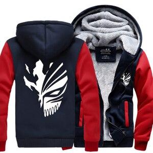 Image 2 - Sweatshirt Anime Bleach Kurosaki Ichigo hoodies 2019 frühling winter verdicken fleece männer der jacke sportswear Casual Zip Up hoody