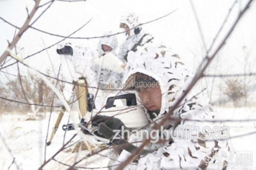צלף טקטית שלג לבן Ghillie Suit הסוואה נטו בגדים Camo ז 'קט ומכנסיים עבור חורף ספורט אימון ספורט ציד