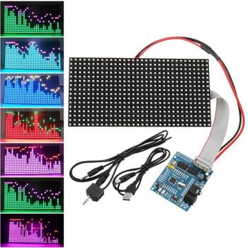 16*32 Colorful Music Spectrum STM32 LED Lights Frequency Display Assembled Dot Matrix Board