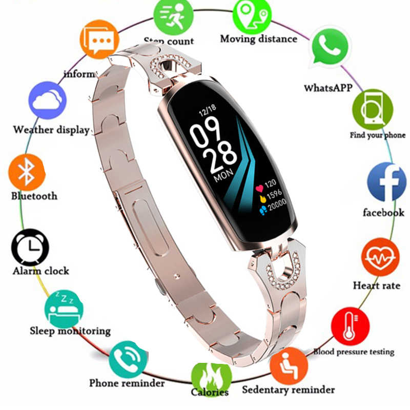 2019 Smart Watch Bracelet for women fashion lady girl High grade wonderful gifts accessories wristband with Bluetooth PK AK18 H8