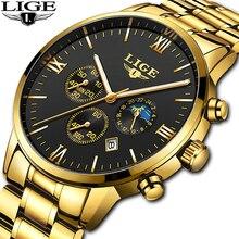 LIGE Men Watch Chronograph Sport