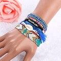 Brazilian Brand Bracelet Multilayer Bracelets Handmade Jewelry Beach Style Magnetic Clasp Cuff Bracelets For Women BG081