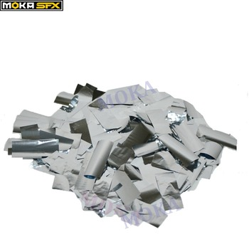 2 kg/lotto Argento striscia di colore Forma di Coriandoli di Carta per Confetti cannone macchina Del Tessuto Della Decorazione di Carta per la fase