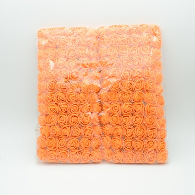 144pcs torba MINI PE wielokolorowy fałszywy piana Róża sztuczne kwiaty tanie Dekoracje świąteczne wieniec dla domu ślub DIY nowy rok prezenty tanie i dobre opinie z dycrazy Ślub b144 Rose Bukiet kwiatów