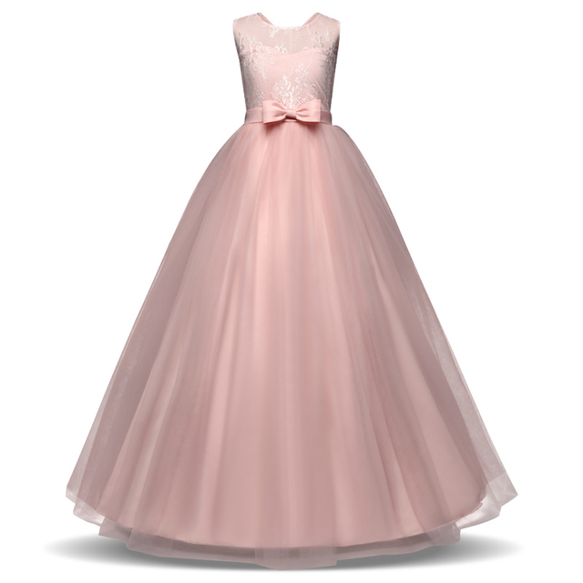 Elegant Tulle Long Teenage Girl Dress Children Tutu 6 7 8 10 12 14 ...