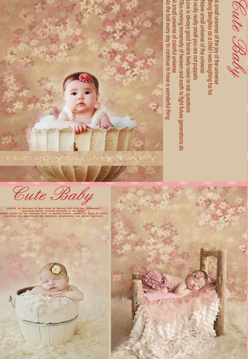 Custom vinyl cloth newborn floral wallpaper photography backdrops for wedding doll portrait photo studio backgrounds props S-106 custom vinyl cloth broken wall photo