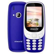 Подарок! Vkworld Z3310 3D Экран 2.4 дюймов мобильный телефон Громкий Динамик fm Радио сильный свет 2MP Камера dual sim карты мобильный телефон