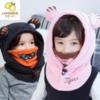 Cappello Del Bambino di inverno E Sciarpa Congiunta Con Stile Del Cane Crochet Lavorato A Maglia Caps per I Ragazzi Infantili Ragazze Bambini Nuovi Capretti di Modo Neck Warmer