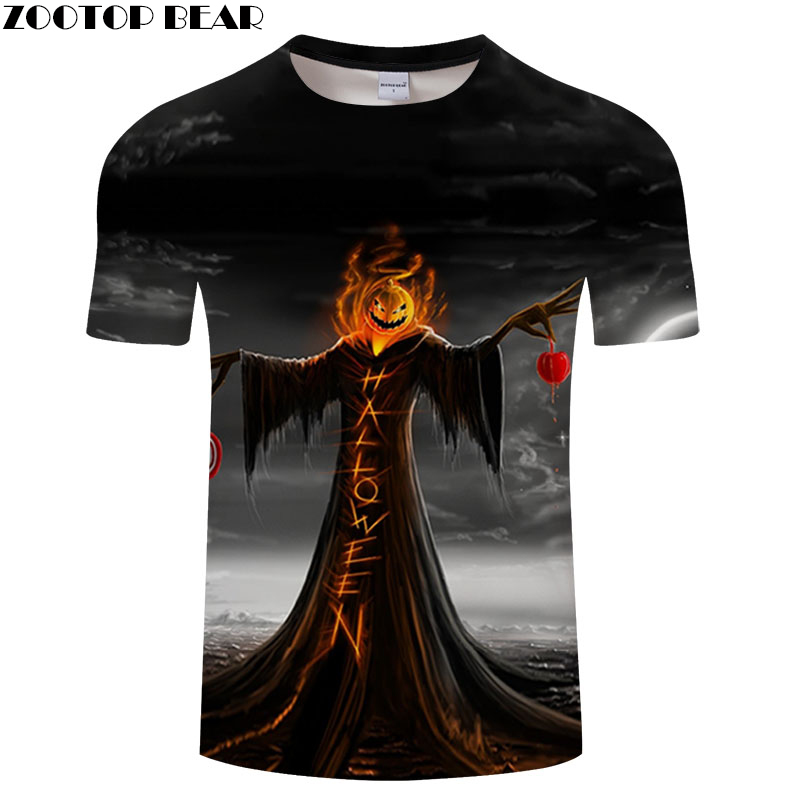 Jack skellington Prints tshirt Men Women t shirt 3d Top Tee Fashion t-shirt Short Sleeve Camiseta Halloween DropShip ZOOTOP BEAR
