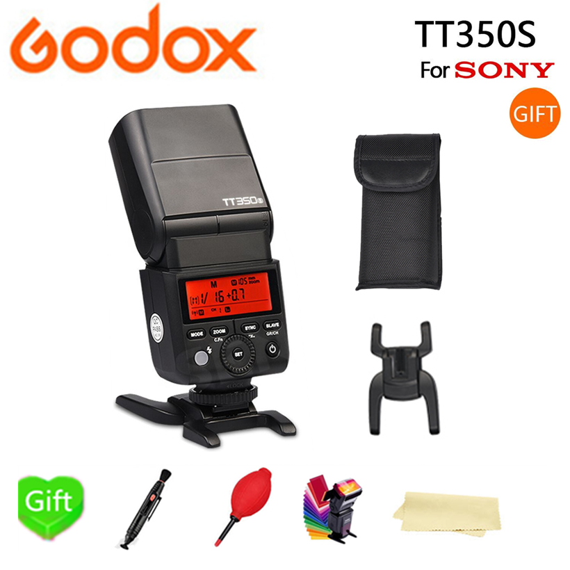 Godox TT350S Mini Camera Speedlite Flash 2.4G Wireless TTL 1/8000S HSS TTL GN36 for Sony Mirrorless DSLR Camera A7 A6000 A6500 godox mini speedlite tt350s tt350n tt350c tt350o camera flash ttl hss for sony mirrorless dslr camera a7s a6000 a6500 series