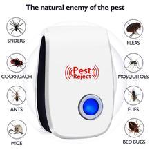 Ультразвуковой Отпугиватель вредителей для борьбы с вредителями Электронный Отпугиватель насекомых против грызунов моль мышей тараканов мышей от комаров
