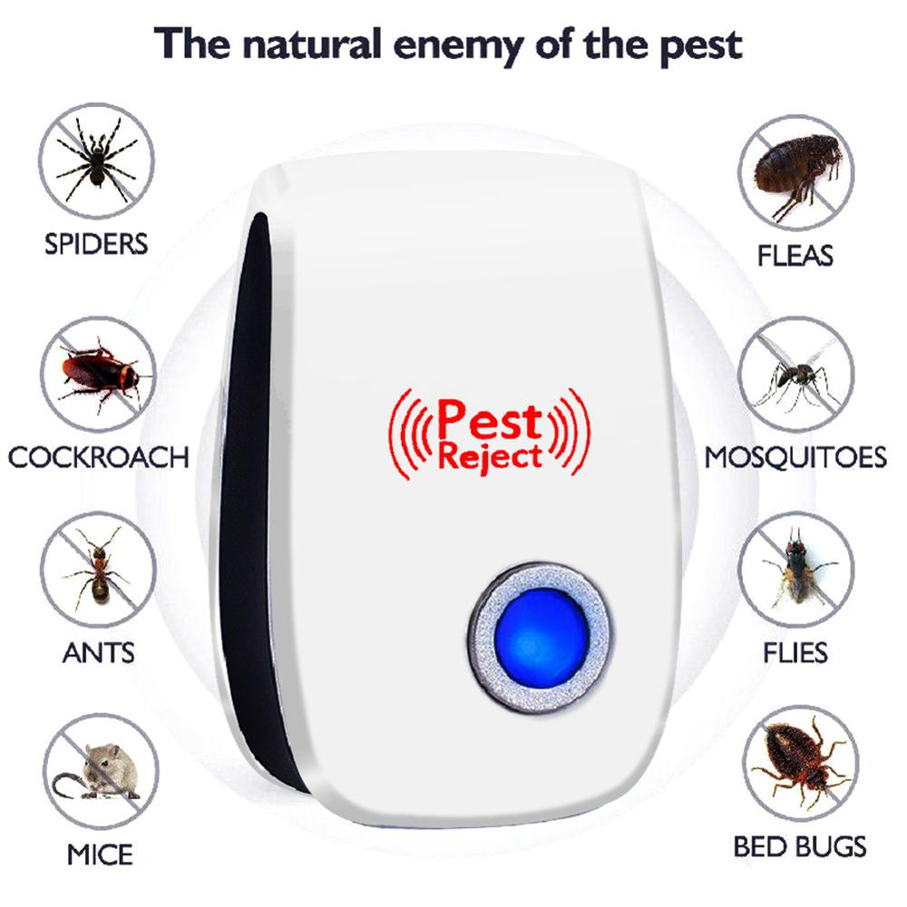 Ultrasonic Pest Reject Repeller Pest Control Electronic Anti Rodent Insect Repellent Mole Mouse Cockroach Mice Mosquito Killer image