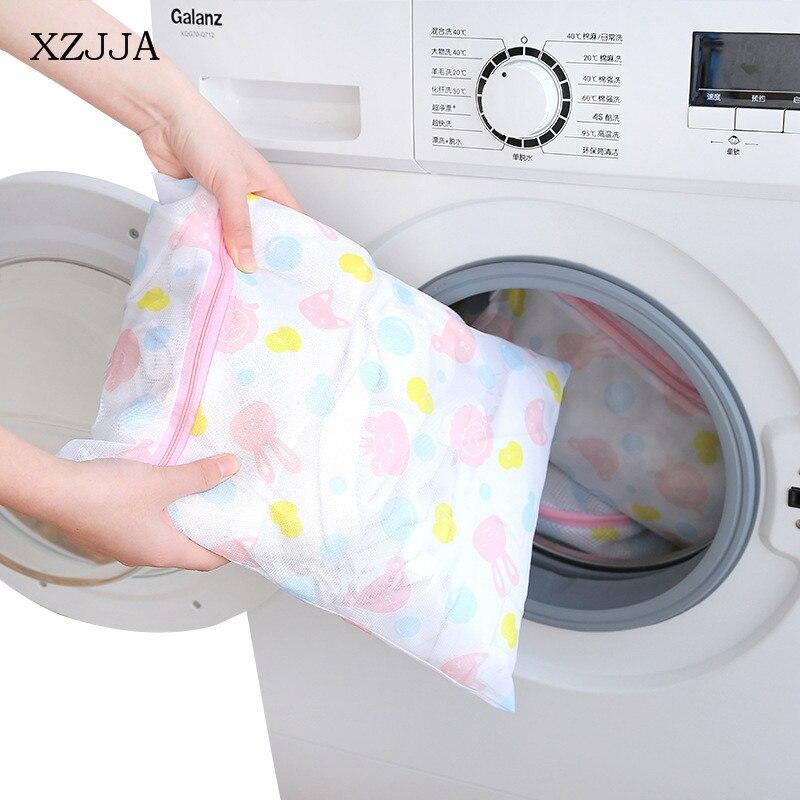 XZJJA Cute Cartoon Animal Laundry Bag Underwear Bra Socks Washing Pouch Washing Machine Mesh Bag Zipper Protector Net Case