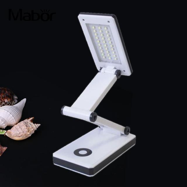 30 SMD LED Portátil de Mesa Dobrável Recarregável Tabela Light Reading Lamp 4AAA/USB