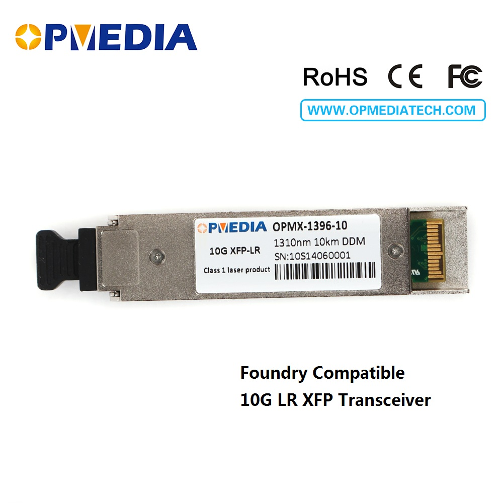 Foundry compatible 10GBASE-LR,10G 1310nm 10KM XFP transceiver,duplex LC connector,DDM function optical module
