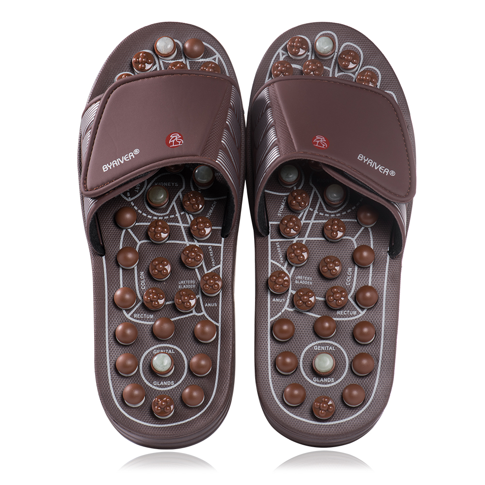 BYRIVER Acupuncture Foot Massager Massage Slipper Health Sandals Shoes Health Relaxation Gift for Mother Father's Day Men Women