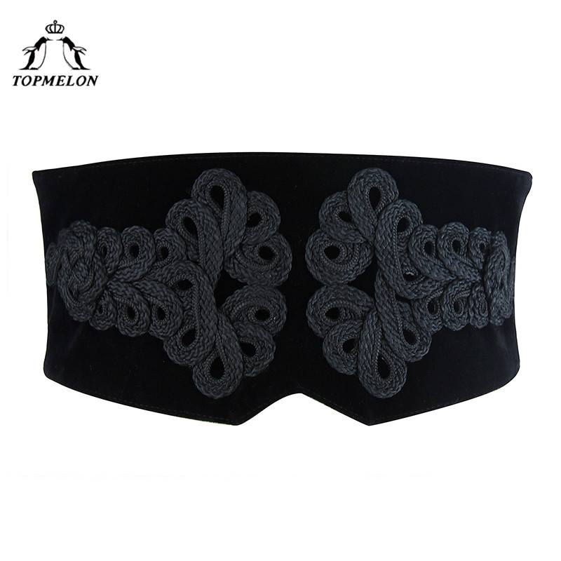 TOPMELON Women's Corset   Belts   Lace Up Female Strap Ladies   Belt   Slimming Adjustable Wide Band High Quality Women Fashion 2018