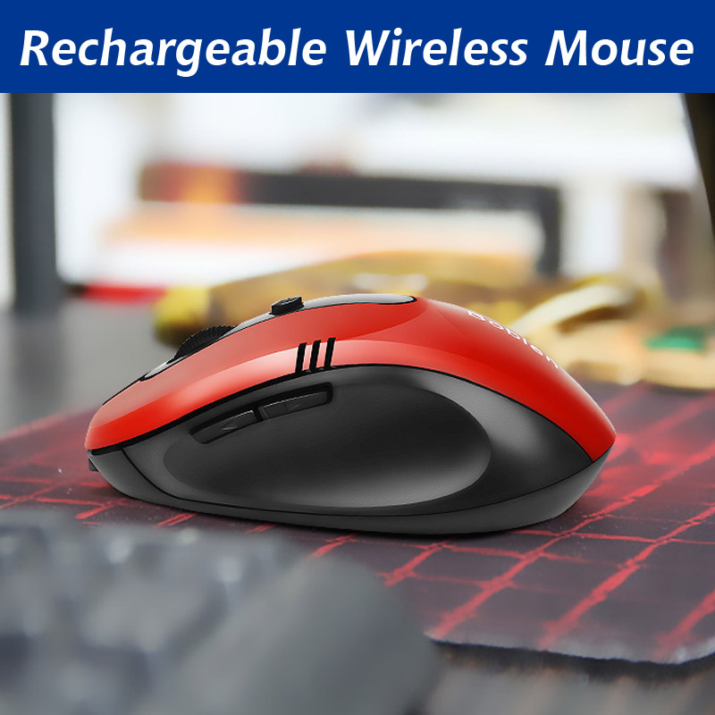 Rechargeable Wireless mouse Optical Gaming silent click Mouse For Laptop PC Computer Optical Mouse Computer Mice ergonomic mouse