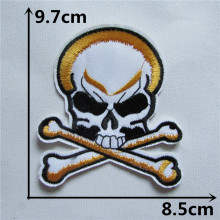 Skull Head Hot melt adhesive clothing patches stripes 1pcs applique embroidery blossom DIY accessories Ultra-low prices C110