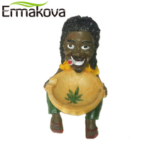 Creative Synthetic Resin African Style Crafts Painted Black Ashtray Tobacco Tray Gift Collection Decoration Souvenir