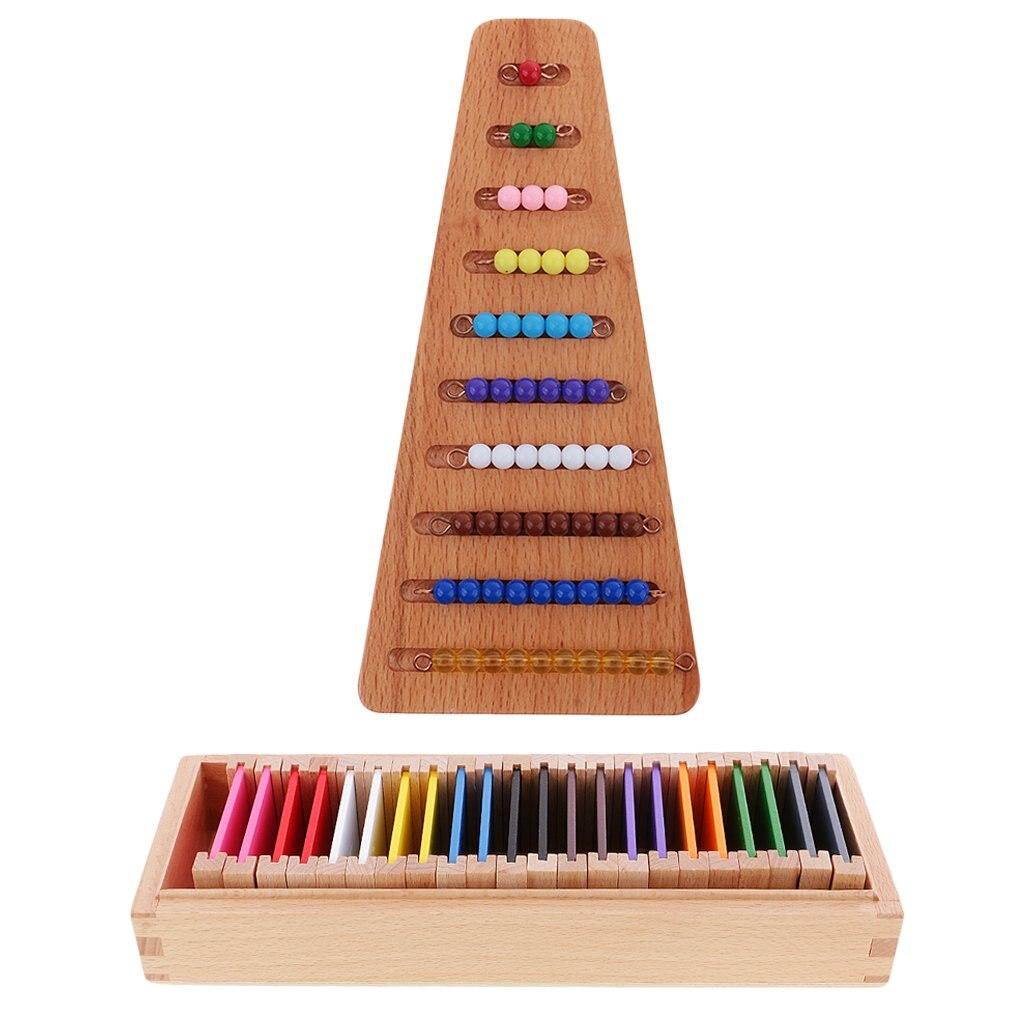 Montessori matériel mathématiques mathématiques jouet et calcul sensoriel perles jouet éducatif cadeau de noël pour enfants enfants