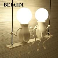 BEIAIDI Modern Cartoon Doll LED Wall Lamp Creative Mounted Iron Sconce Wall Light for Kids Baby Bedroom Corridor Wall Light