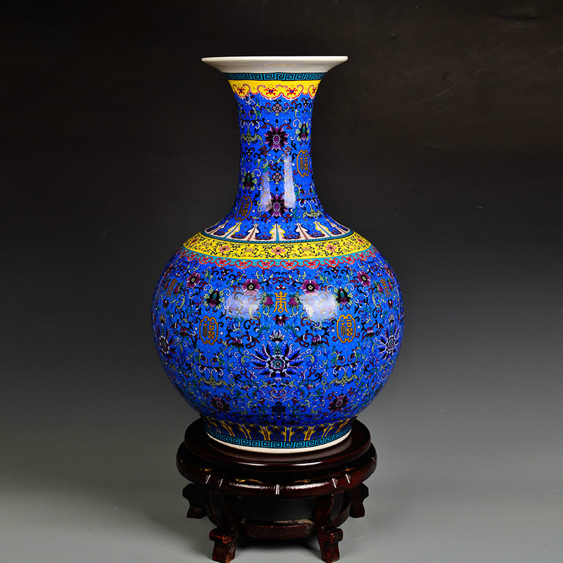 Chinese Style Classic Antique Jingdezhen Enamel Porcelain