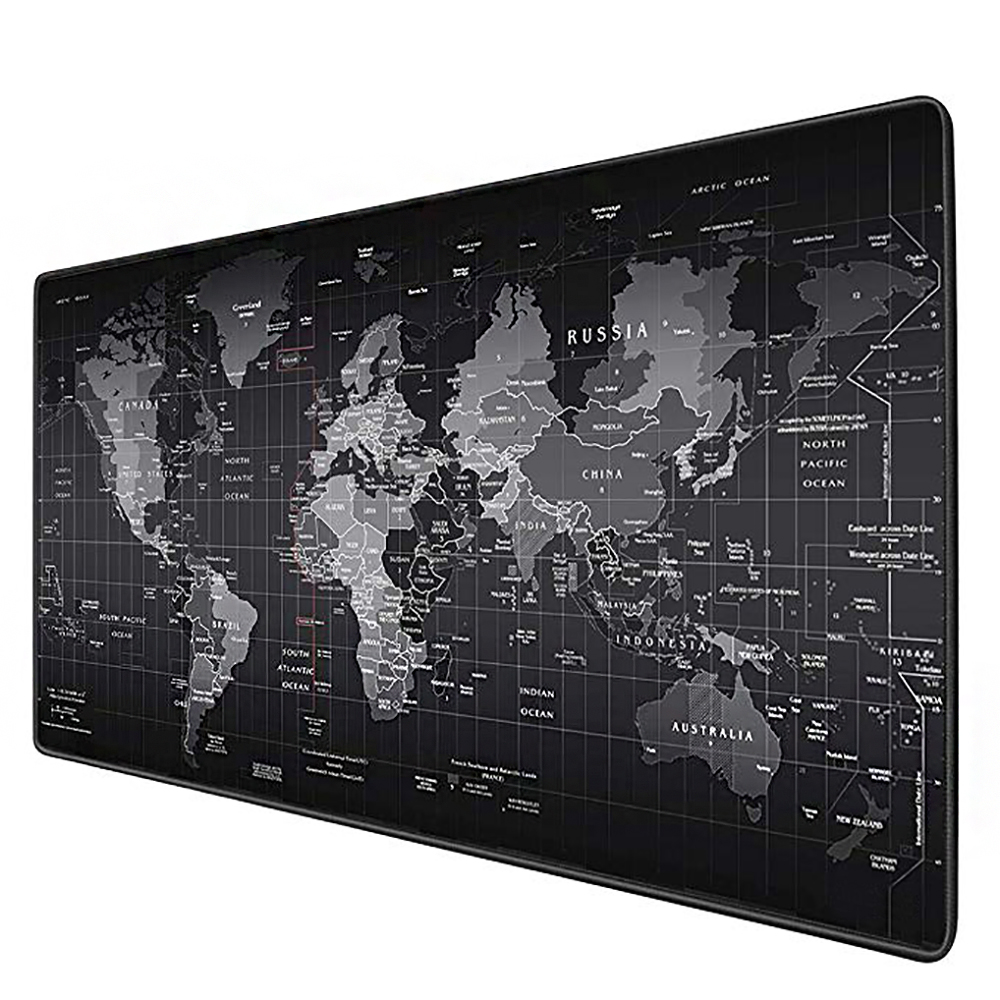 Gaming Mouse Large World Map Rubber Mouse Pad Computer Game Tablet Mouse Pad With Edge Locking Computer Mouse Mat