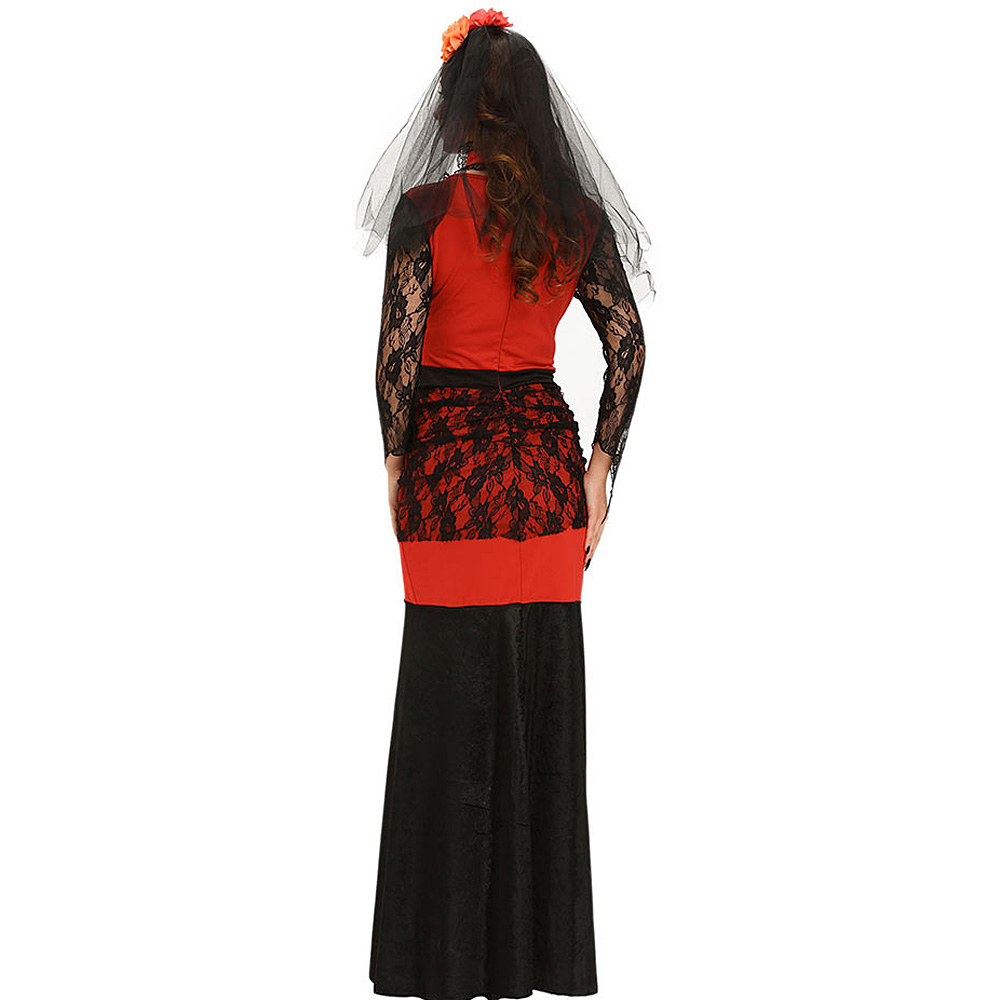 e4742c16875 VESTLINDA Halloween Maxi Dresses Vampire Bride Halloween Costume Outfit  2017 Fall Women Sexy Club Bodycon Party Fancy Lace Dress-in Dresses from  Women s ...