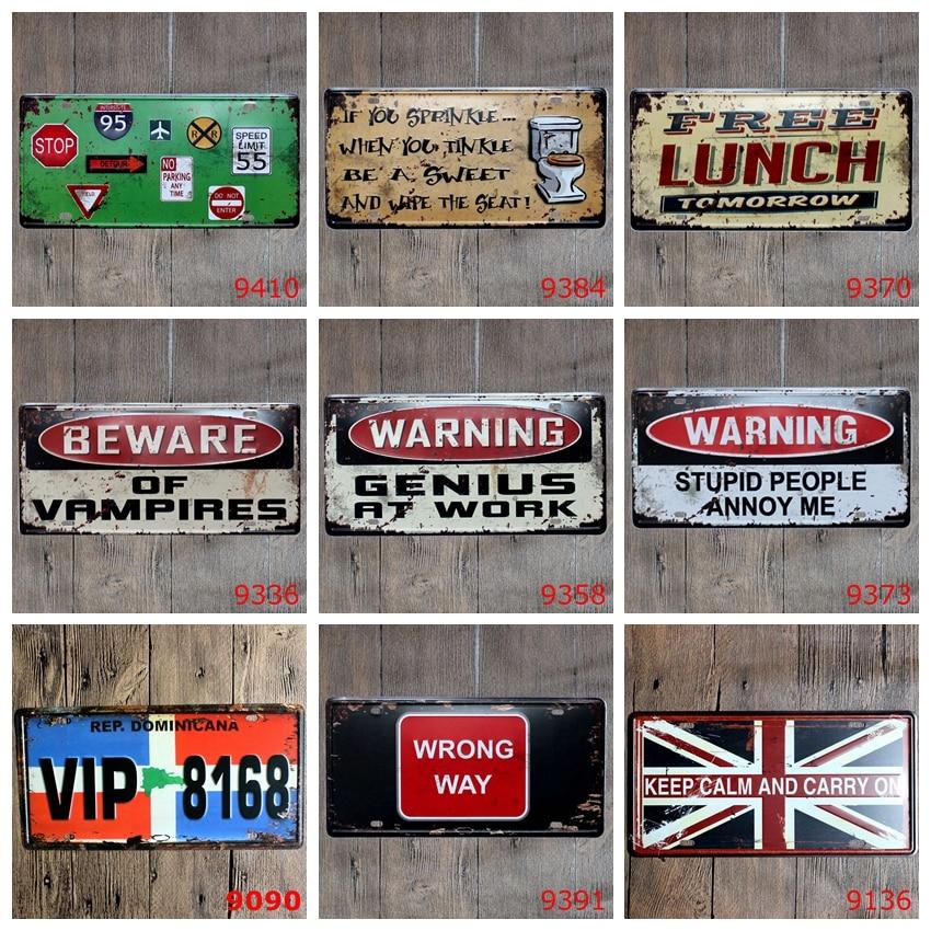 Смешивать элементы ретро Номерные знаки для мотоциклов Предупреждение знаки Pratice здесь металлический знак паб дома хостел Бар Декор таблич...