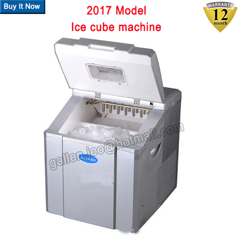 high quality mini commercial automatic electric ice cube maker 25kgd portable ice maker - Ice Machines For Sale